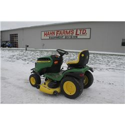 "JD E180 lawn tractor, 54"" mid mount mower, 33 hrs"