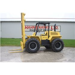 Lift King 4wd rough terrain forklift, crab steer, 19.6' lift