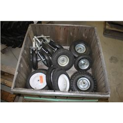 skid of misc tires and wheel assemblies
