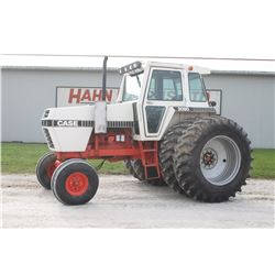 Case 2090 2wd tractor, cab, air, 20.8x38 axle duals, 3 remotes, 6625 hrs
