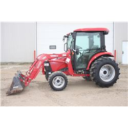 2011 CIH 45 4wd compact tractor, cab, air, loader, 850 hrs, CVT