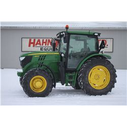 2014 JD 6125R 4wd tractor, Premium cab, air, IVT,18.4x38, 4 remotes, 3 function electric joystick, 3
