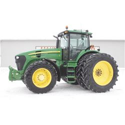 2007JD 7730 4wd tractor, cab, air, IVT, front 3pth, 520 85R46 axle duals, electric joystick control,