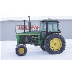 JD 4430 2wd tractor, cab, air, quad, 20.8x38, 2 remotes, 8597 hrs