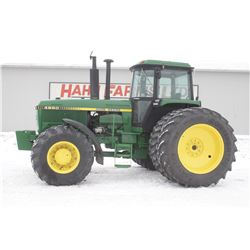 JD 4650 4wd tractor, cab, air, 18.4x42 axle duals, 3 remotes, powershift, 11,975 hrs