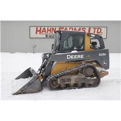 2012 JD 323D track skidsteer, cab, air, 2 speed, hyd. QT, 1650 hrs