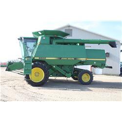 JD 9500 2wd combine, 17' auger, chopper, chaff spreader, duals