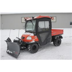 2012 Kubota RTV 900 4wd , cab, diesel, power steering with front V blade, 1083 hrs