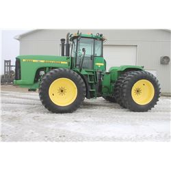 2001 JD 9200 4wd articulating tractor, cab, air, 24 speed, 20.8x42 duals