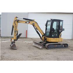 Caterpillar 303.5 CR mini excavator, cab, hyd. thumb, 1563 hrs
