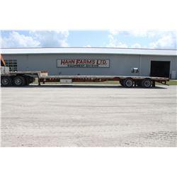 2001 Lode King 53' step deck trailer, sliding 10-1 spread, ramp ledges, toolbox