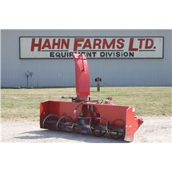 Agro Trend FU-96S 8' single auger snowblower, hydraulic hood turner with cylinder