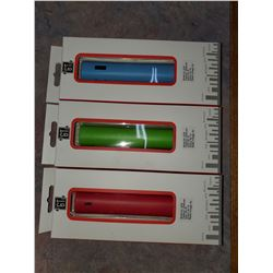 LOT OF 3 POWER BANKS (RED, GREEN, BLUE)