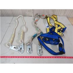 SAFETY HARNESS AND SAFETY ROPES