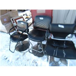 3 BARBER CHAIRS