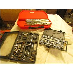 THREE ASSORTED SOCKET SETS (NOT COMPLETE)