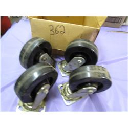 LOT OF 4-SIX INCH CASTERS
