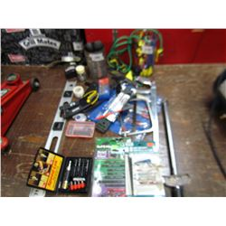 LOT INCLUDING, DRILL BITS, JIG SAW BLADES, MISC TOOLS, ETC…
