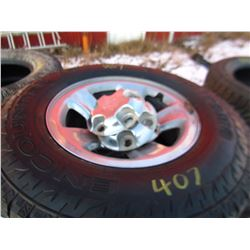LOT OF 4 TIRES AND RIMS (265/70R/17) *ENCOUNTER A/T SUMITOMO*