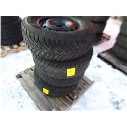LOT OF 4 TIRES AND RIMS (235/65/16) *GOODYEAR*