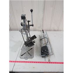 DRILL PRESS TOOL HOLDER AND ROTISSERIE FOR BBQ