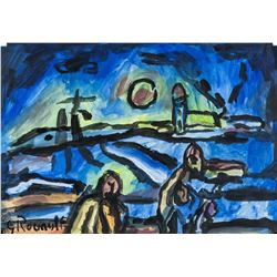 Georges Rouault French Fauvist Oil & Tempera Paper
