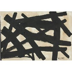 Franz Kline American Abstract Oil on Canvas Signed
