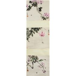 Song Meiling 1897-2003 Chinese Watercolor Scroll