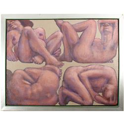 """William Forest Martin Painting Titled """"Pogrom Sleep""""  #77811"""