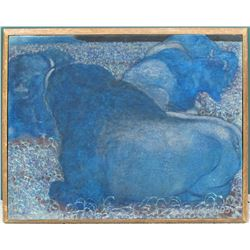 William Forrest Martin Painting of Blue Buffalo  #71064