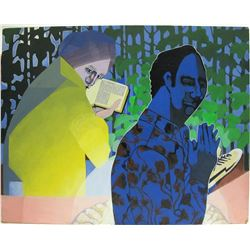 William Forrest Martin Painting of Couple Praying  #76671