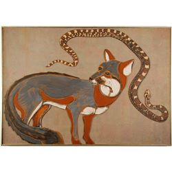 William Forrest Martin Painting of Fox and Rattlesnake  #76603