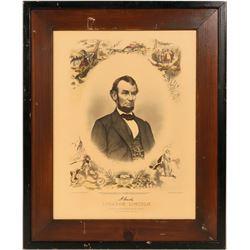Abraham Lincoln Print by Matthew Brady/JC Buttre/W Mumberger  #105927
