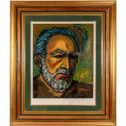 Anthony Quinn Framed Self Portrait Serigraph Titled  Zorba   #110786