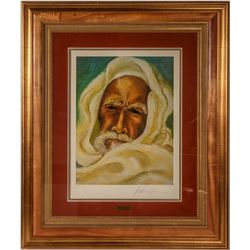 Anthony Quinn Framed Serigraph Titled  The Prophet  Signed by Artist and Numbered  #110787