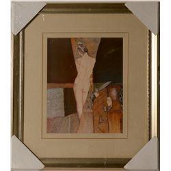 Arte Deco Style Print of Nude  #109862