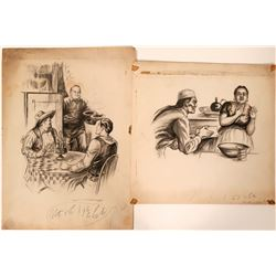 Chinese Illustrations of Cooks in the West  #109864
