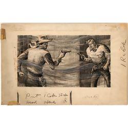 Cowboy Illustration of Quick Draw    #109857