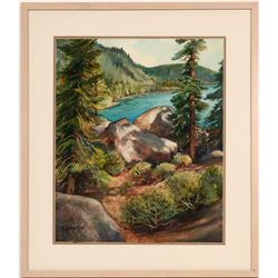 Lake Tahoe Watercolor by K. Young Ross  #109913