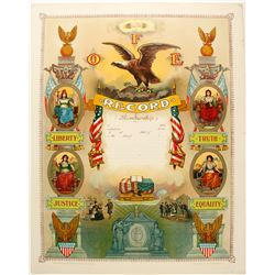 Lithograph Fraternal Order of the Eagle  #78977