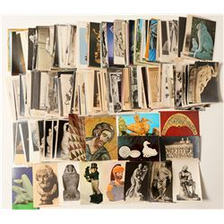 Post Card Collection Artcards, Mostly Sculptures (Over 500)  #103301