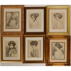 Victorian Gold Frames Lot of 15  #110705