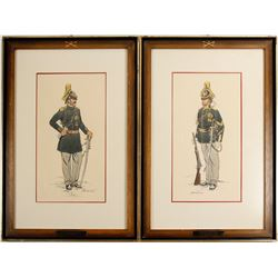 2 Color 7th Cavalary Prints by George Woodbridge  #89137