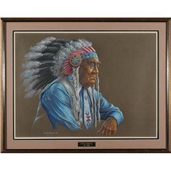 Framed Wm A Moore, Paiute Heritage  #87602
