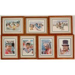 Conrad Black Paiute Dancers Framed Prints (7)  #87874
