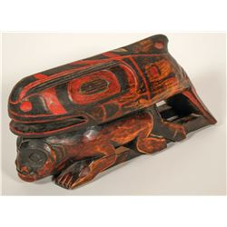 Haida Whale on Human Effigy, Vintage  #91451