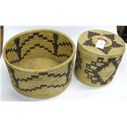 Two Large Papago Baskets  #54850