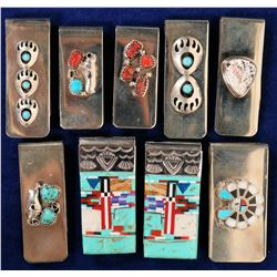 Native American/  Money Clips / 9 Items.  #109741