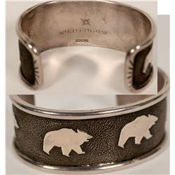 Ben Nighthorse Sterling Bear Bracelet  #110890