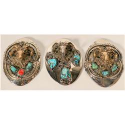 Three Vintage Navajo Bolo Pulls  #109772